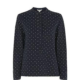 Spot Slub Cotton Shirt