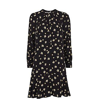 Edelweiss Print Shirt Dress