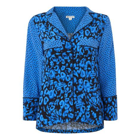 Jungle Cat Print Pyjama Shirt, ${color}