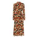 Dandelion Print Shirt Dress, ${color}