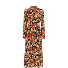 Dandelion Print Shirt Dress