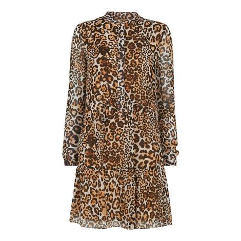 Animal Print Shirt Dress, ${color}