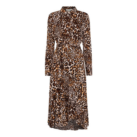 Animal Print Esme Wrap Dress, ${color}