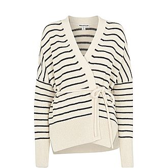 Stripe Tie Detail Cardigan