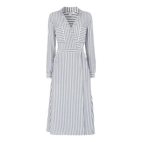 Stripe Wrap Shirt Dress, ${color}