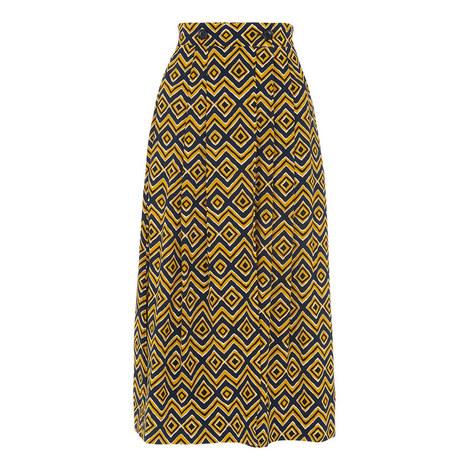Zig Zag Print Wrap Skirt, ${color}