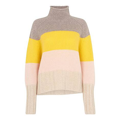 Cashmere Stripe Sweater, ${color}