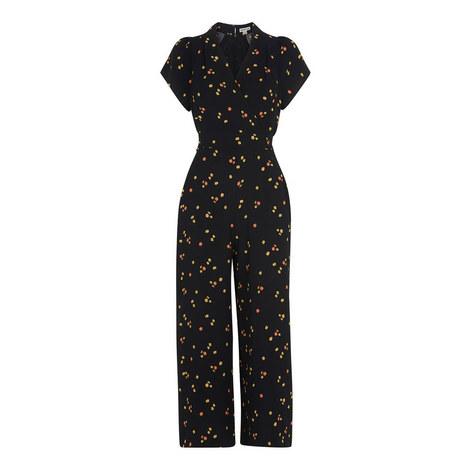 Micro Floral Tie Jumpsuit, ${color}