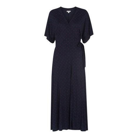 Spot Wrap Jersey Dress, ${color}
