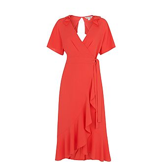 Abigail Frill Wrap Dress