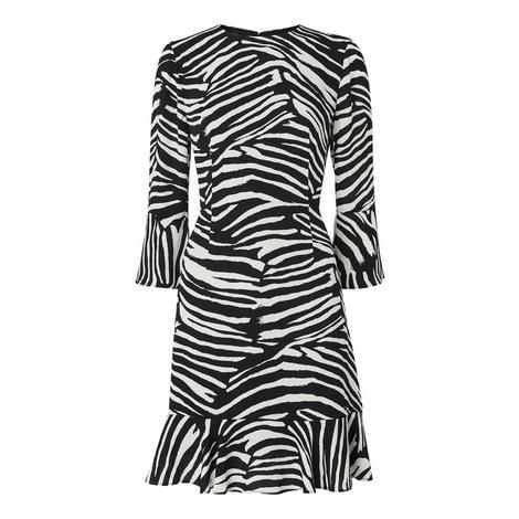 Zebra Print Flippy Dress, ${color}