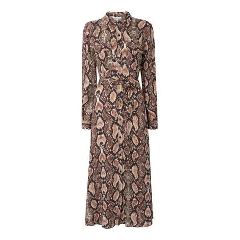 Elfrida Snake Print Dress, ${color}