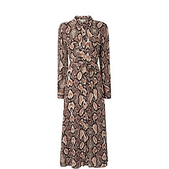 Elfrida Snake Print Dress