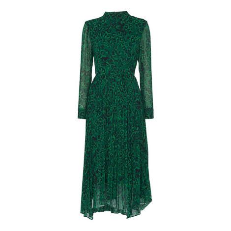 Jungle Cat Pleated Dress, ${color}