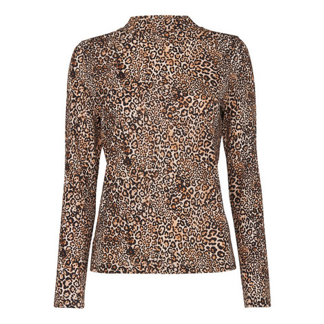 Leopard Print Essential Top, ${color}