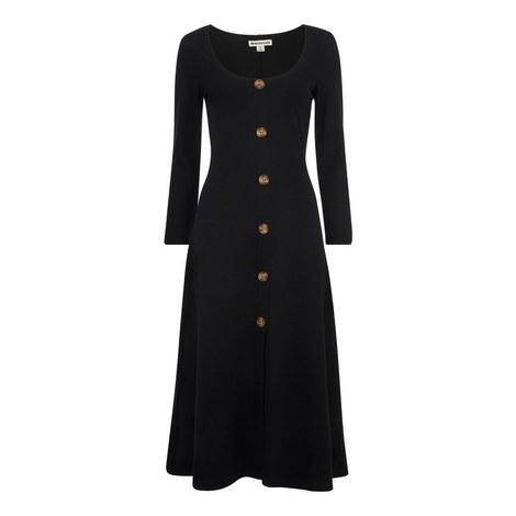 Button Detail Jersey Dress, ${color}