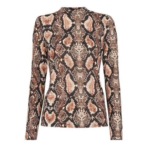 Snake Print Essential Top, ${color}