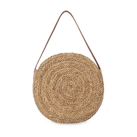 Etty Large Circular Straw Bag, ${color}
