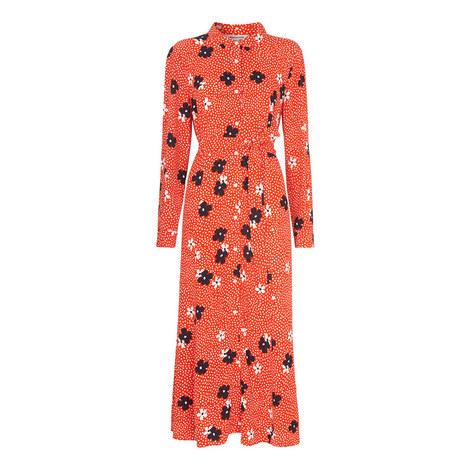 Confetti Floral Shirt Dress, ${color}