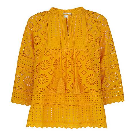 Maggie Broderie Blouse, ${color}