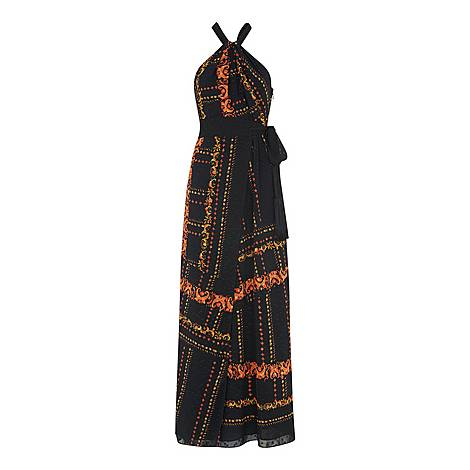 Paisley Scarf Maxi Dress, ${color}