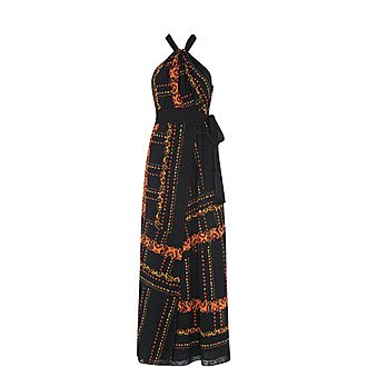 Paisley Scarf Maxi Dress