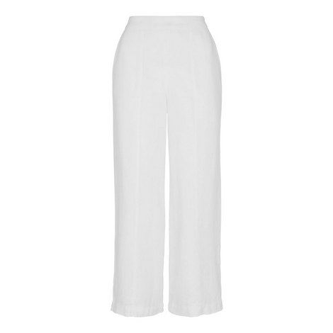 Cropped Wide Leg Trousers, ${color}
