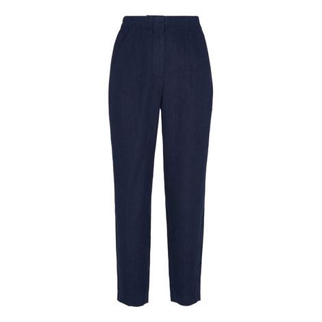 Barrel Leg Linen Trousers, ${color}
