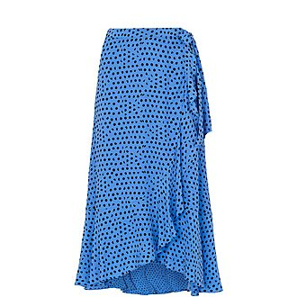 Lunar Spot Wrap Skirt