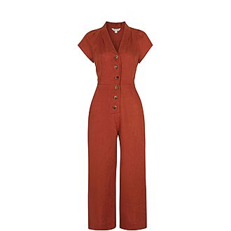 Sana Linen Button Jumpsuit