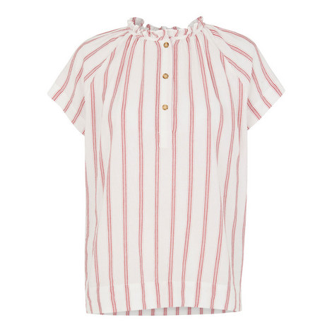Tilly Stripe Linen Top, ${color}