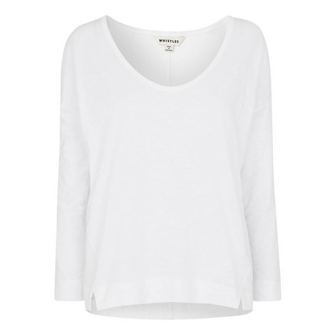 Cotton Scoop Neck Top, ${color}