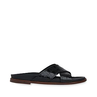 Hester Cross Strap Slides