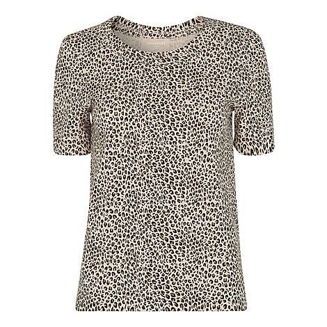 Mini Leopard Print Rosa T-Shirt, ${color}