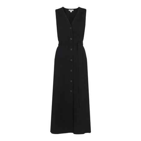Military Tie Front Dress, ${color}