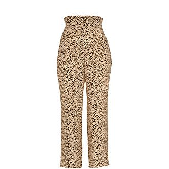 Mini Leopard Print Trousers