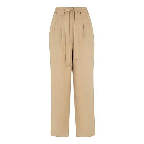 Belted Wide Leg Crop Trouser, ${color}