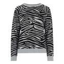 Zebra Flocked Sweatshirt, ${color}