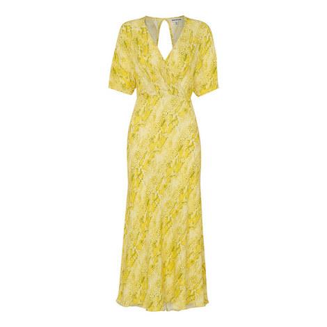 Python Print Midi Dress, ${color}