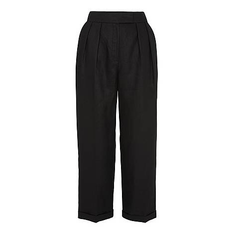 Lydia Linen Pleated Trouser, ${color}