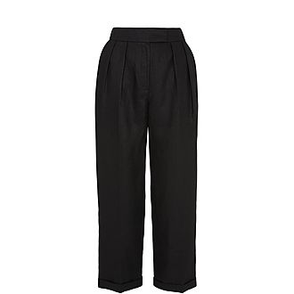 Lydia Linen Pleated Trouser