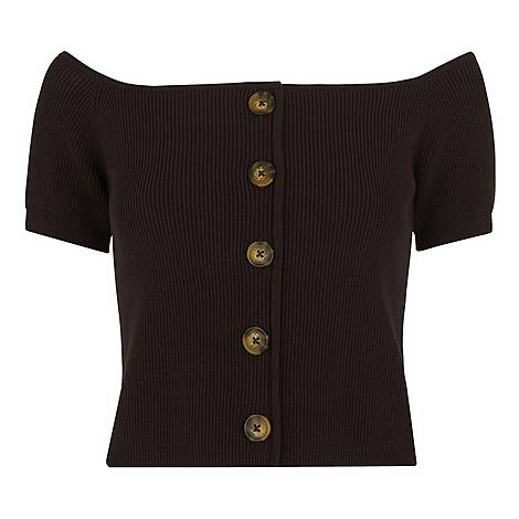 Button Front Rib Knit, ${color}