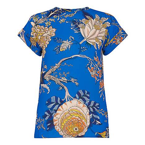 Exotic Floral Shell Top, ${color}