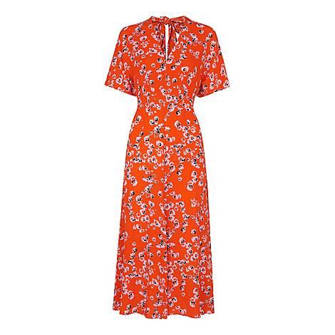 Digital Daisy Zelena Dress, ${color}