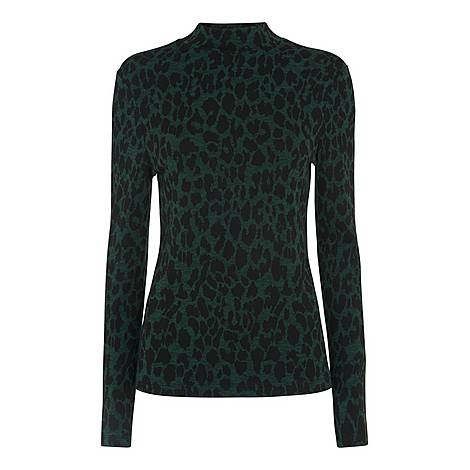 Animal High Neck Top, ${color}