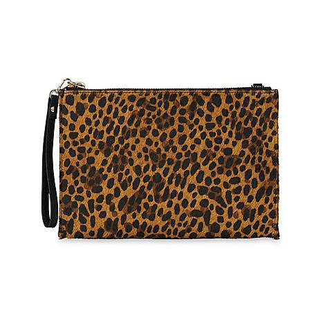 Hampton Chain Leopard Pouch, ${color}