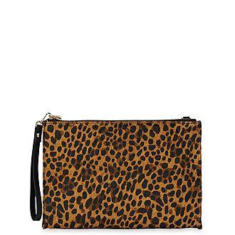 Hampton Chain Leopard Pouch