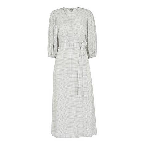 Catalina Check Wrap Dress, ${color}