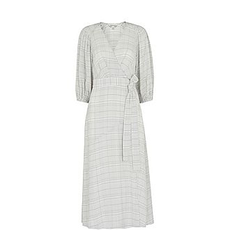 Catalina Check Wrap Dress