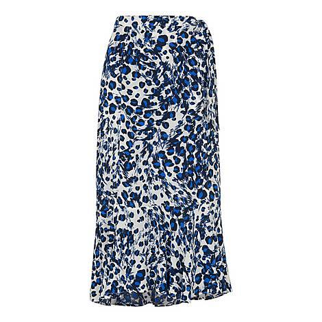 Brushed Leopard Wrap Skirt, ${color}
